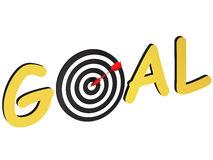 Word goal as a target Stock Images