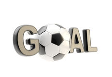 Word goal with the football soccer ball Stock Photography