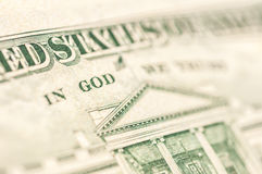 Word GOD in paper money Stock Photography