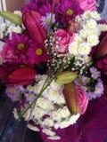 Word goed bloemen stock fotografie