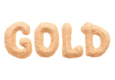 The word GOLD Royalty Free Stock Images