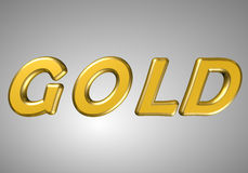 Word gold Royalty Free Stock Photo
