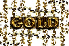 The word gold on abstract background. Royalty Free Stock Photos