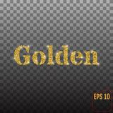 The word `Golden` Royalty Free Stock Photography