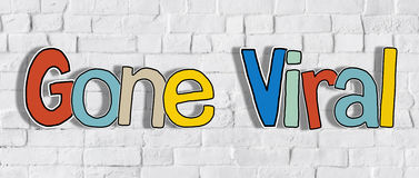 Word Gone Viral on Brick Wall in the Back Concept.  Royalty Free Stock Photo