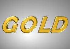 Word goud Royalty-vrije Stock Foto