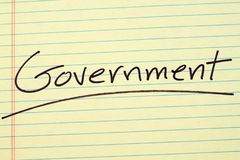 Government On A Yellow Legal Pad Stock Image Image Of Government