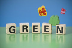 Word GREEN Royalty Free Stock Photos