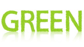 Word of the green  on white. Royalty Free Stock Images