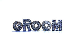 Word GROOM on white background Stock Photo
