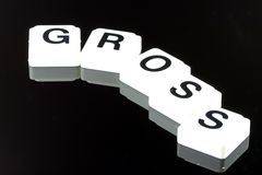 The Word Gross - A Term Used For Business in Finance and Stock Market Trading Royalty Free Stock Images