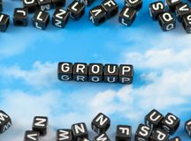The word group royalty free stock photography