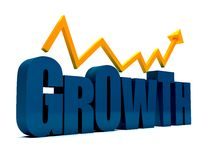 Word growth in 3D Stock Image