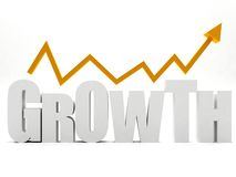 Word 'growth' isolated Stock Image