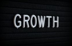The word Growth on a Letter Board royalty free stock images