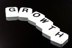 The Word Growth - A Term Used For Business in Finance and Stock Market Trading Royalty Free Stock Photo
