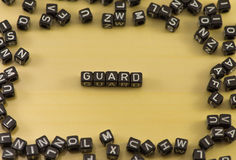 The word guard stock photography