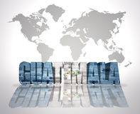 Word Guatemala on a world map background Royalty Free Stock Images