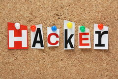 The word Hacker Royalty Free Stock Photos
