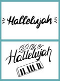 Word Hallelujah is written by hand Royalty Free Stock Photography