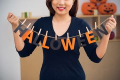 Word Halloween Royalty Free Stock Images