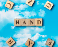 The word hand royalty free stock photos