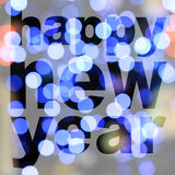 Word happy new year Stock Images