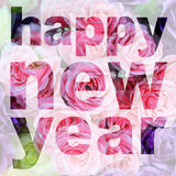 Word happy new year Royalty Free Stock Photo