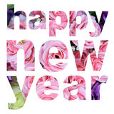Word happy new year Stock Image