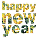 Word happy new year Royalty Free Stock Photography