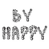 Word BY HAPPY. Vector-author's work royalty free illustration