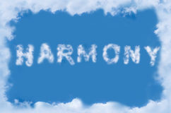 Word harmony of the clouds Royalty Free Stock Image