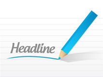 Word headline written on a white background. Royalty Free Stock Photo