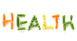 Word healt from vegetable Royalty Free Stock Photos