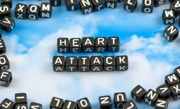 The word heart attack Royalty Free Stock Images