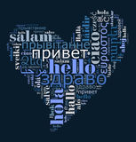 Word Hello in different languages Royalty Free Stock Photos