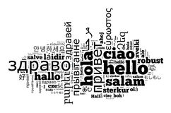 Word Hello in different languages Royalty Free Stock Photography