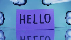 Word Hello stock video footage