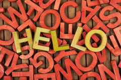Word Hello made of letters Royalty Free Stock Photo