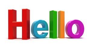 Word hello multicolor vector illustration
