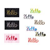 Word Hello, Text hello - hand-lettering. royalty free stock images