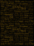 The word Hello written with the different world languages Royalty Free Stock Images