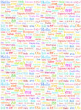 The word Hello written in different world languages   Stock Photo