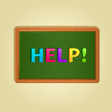 Word Help Composed From Colorful Letters Royalty Free Stock Image