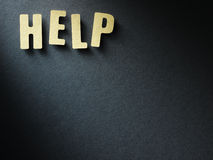 The word Help on paper background Royalty Free Stock Photo