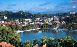 Word Heritage Kandy City, Sri lanka. Areal view of Word Heritage Kandy City, Sri lanka Royalty Free Stock Photos