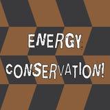 Word het schrijven het Behoud van de tekstenergie Bedrijfsdieconcept voor Vermindering van de hoeveelheid energie in een proces w stock illustratie
