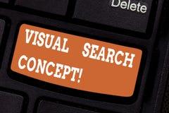 Word het schrijven het Concept van tekstvisueel zoeken Bedrijfsconcept voor op waarneming gebaseerde taak die aandacht voor een o royalty-vrije stock foto