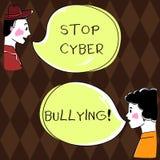 Word het schrijven de Intimidatie van Cyber van het teksteinde Het bedrijfsconcept voor verhindert gebruik van elektronische comm stock illustratie