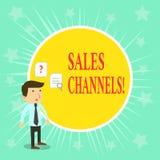 Word het schrijven de Kanalen van de tekstverkoop Het bedrijfsconcept voor impliceert zaken die rechtstreeks aan zijn klanten ver royalty-vrije illustratie